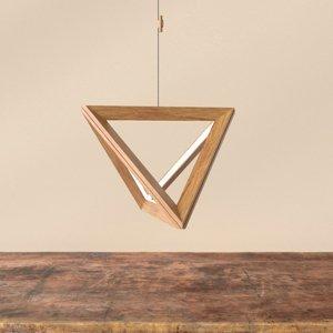 Spot-Light LED závesné svietidlo Trigonon v olejovanom dube