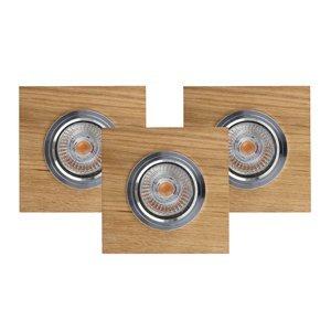 Spot-Light Stropné zapustené LED Vitar olejovaný dub sada 3ks