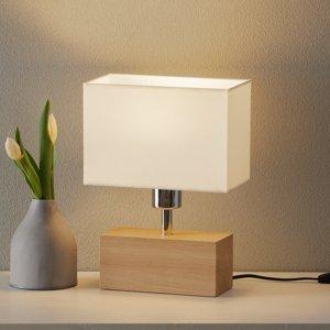 Spot-Light Stolná lampa Theo biele podstavec olejovaný dub