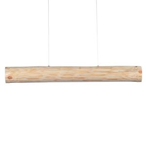 Spot-Light Závesná lampa Lucas, prírodná borovica, 90cm