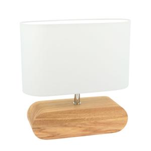 Spot-Light Stolná lampa Marinna podstavec dub, tienidlo biele