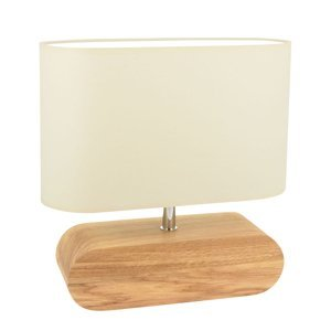 Spot-Light Stolná lampa Marinna podstavec dub tienidlo ekru