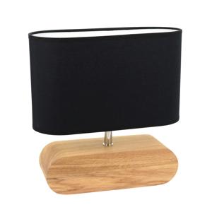 Spot-Light Stolná lampa Marinna podstavec dub tienidlo čierne