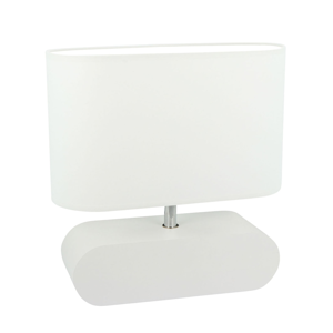 Spot-Light Stolná lampa Marinna podstavec a tienidlo biele