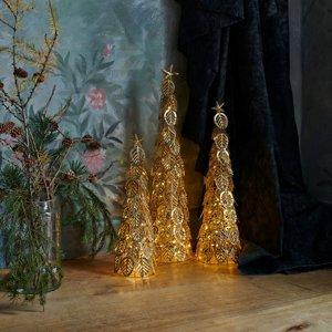 Sirius Dekoračný LED strom Kirstine, zlatý, výška 53,5cm