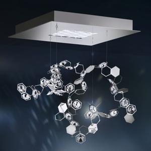 Swarovski Swarovski Crystalon závesná lampa LED, 39x39cm
