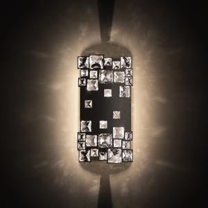 Swarovski Swarovski Mosaix kryštálová nástenná lampa, čierna
