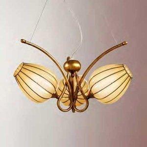 Siru Závesná lampa Gemma ručne vyrobená 3-pl. jantár