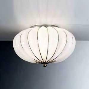 Siru Ručne vyrobené stropné svietidlo Giove biele 29cm