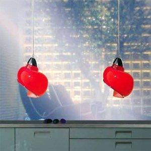 Siru Závesná lampa Chiocciola, červená