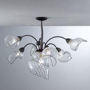 Siru Závesná lampa Chiocciola 7-plameňová číre tienidlá