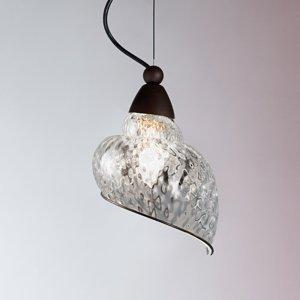 Siru Závesná lampa Chiocciola číre sklenené tienidlo