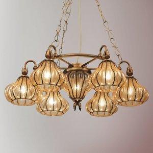 Siru Carro závesná lampa so 7 sklenenými tienidlami