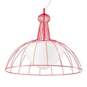 Siru Červená dizajnová závesná lampa Lab made in Italy