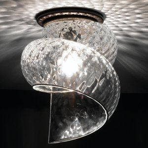 Siru Stropné svietidlo Chiocciola číre tienidlo sklo