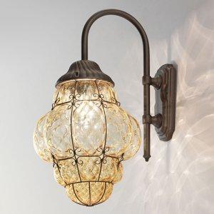 Siru Vonkajšie nástenné svietidlo Classic jantárové