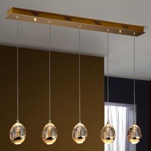 Schuller Lampa Rocio 5-pl. diaľkové ovládanie zlato trámy