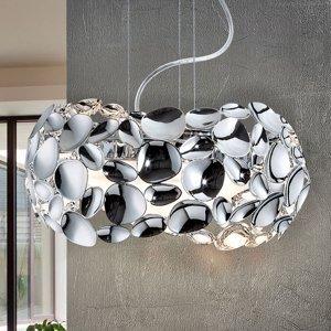 Schuller Závesné LED svietidlo Narisa, Ø 32cm, chróm
