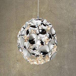 Schuller Závesné LED svietidlo Narisa, Ø 18cm chróm