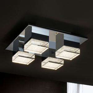 Schuller Stropné LED svietidlo Prisma, štvor-plameňové