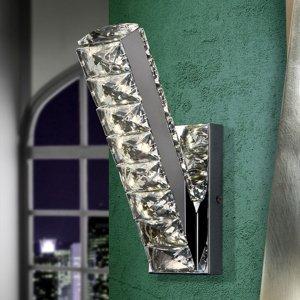 Schuller Nástenné LED svietidlo Diva s krištáľmi