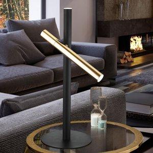 Schuller Stolná LED lampa Varas, čierna/zlatá, 2-plameňová