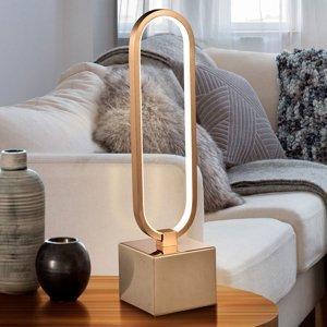 Schuller Stolná LED lampa Colette pekný dizajn ružové zlato