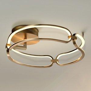 Schuller Závesné LED svietidlo Colette, 3-pl., ružové zlato