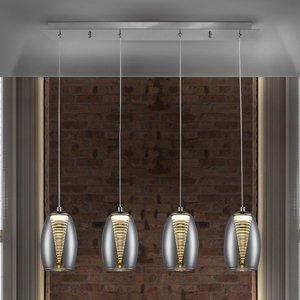 Schuller Závesné LED svietidlo Nébula, štvor-plameňové