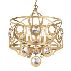 Schonbek Schonbek Gwynn kryštálová závesná lampa 53cm zlato