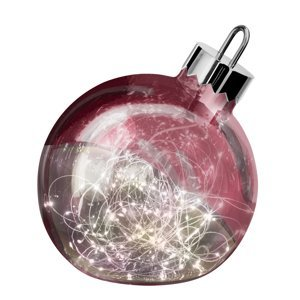 Sompex Dekoračné svetlo Ornament, tmavo-červené, Ø 30 cm