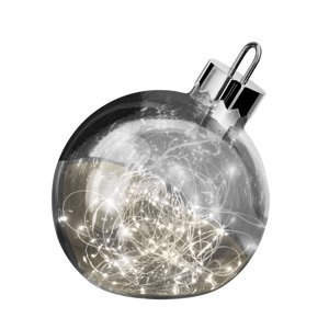 Sompex Dekoračné svetlo Ornament, tmavo-sivé, Ø 25 cm