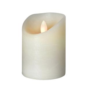 Sompex LED sviečka Shine, Ø 7,5 cm, výška 12,5cm