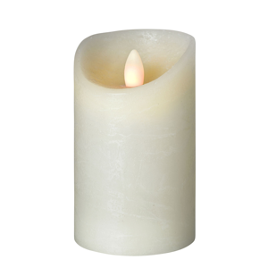 Sompex LED sviečka Shine, Ø 7,5 cm, slonovinová, V 15 cm