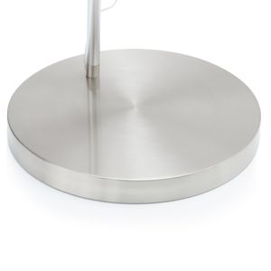 Sompex Oblúková stojaca lampa Fisher, biela/hliník