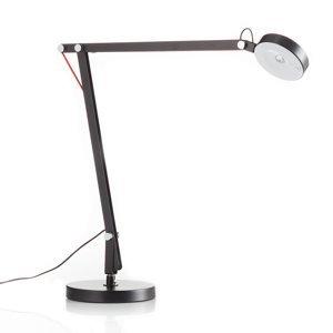Sompex Stolná LED lampa Stina z kovu, čierna