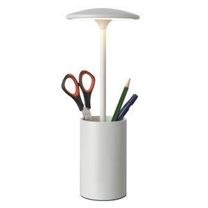 Sompex Stolná LED lampa Pott s priestorom, biela