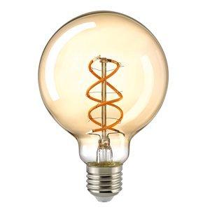 Sompex LED guľatá žiarovka E27 G95 5,5W Filament zlatá