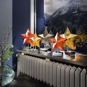 Sompex Stolná lampa Stella, 27 cm, zlatá