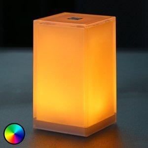 Smart&Green Stolná lampa Cub, ovládateľná aplikáciou, RGBW