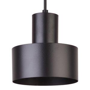 SIGMA Závesná lampa Rif z kovu, čierna, Ø 15cm