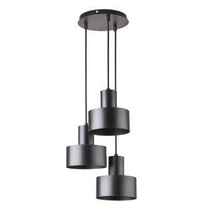 SIGMA Závesná lampa Rif, rondel troj-plameňová čierna