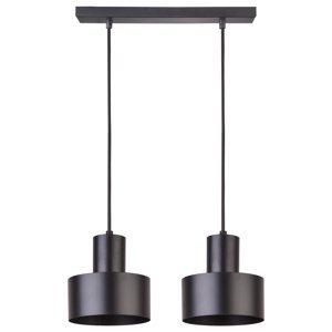 SIGMA Závesná lampa Rif, lineárna dvoj-plameňová čierna
