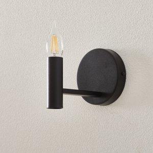 SIGMA Nástenné svietidlo Fokus z kovu, čierne