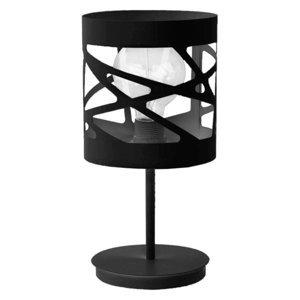 SIGMA Stolná lampa Modul Frez vzorované Ø17,5cm čierna