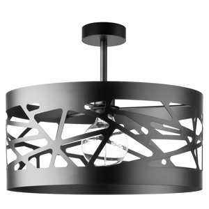 SIGMA Stropné svetlo Modul Frez vzorované Ø39cm čierne