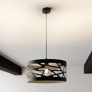 SIGMA Závesná lampa Modul Frez vzorované Ø39cm čierne
