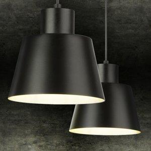 SIGMA Závesná lampa Dunka 2, dvoj-plameňová, čierna