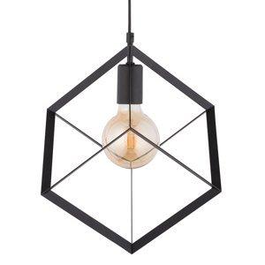 SIGMA Závesná lampa Cube 1 s kovovou kockou, 1-plameňová