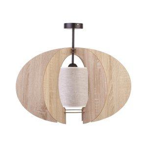 SIGMA Stropné svietidlo Modern C M drevené lamely Ø 50cm